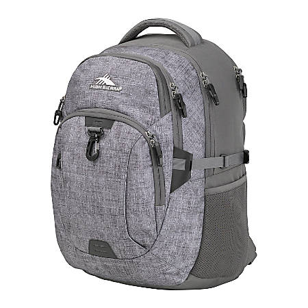 "High Sierra Jarvis Backpack With 17"" Laptop Pocket, Slate/Wooly Weave"