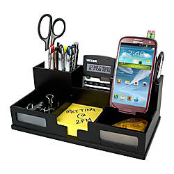 Victor Midnight Black Collection Desk Organizer