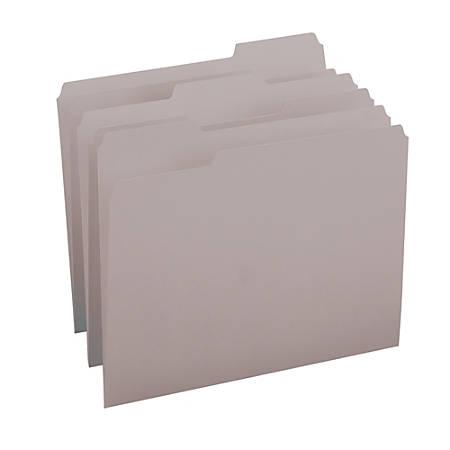 Smead® Color File Folders, Letter Size, 1/3 Cut, Gray, Box Of 100