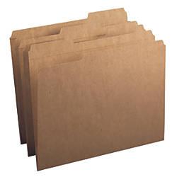 Smead Reinforced Tab Kraft File Folders