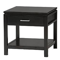 Linon Sutton End Table Black