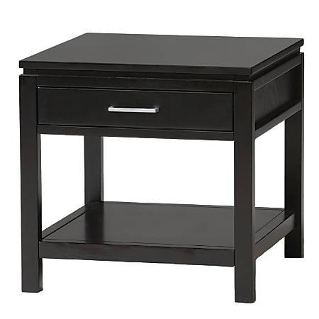 Linon Sutton End Table, Black