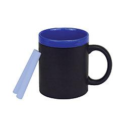 The Master Teacher Chalkboard Mug, 11 Oz, Black/Blue