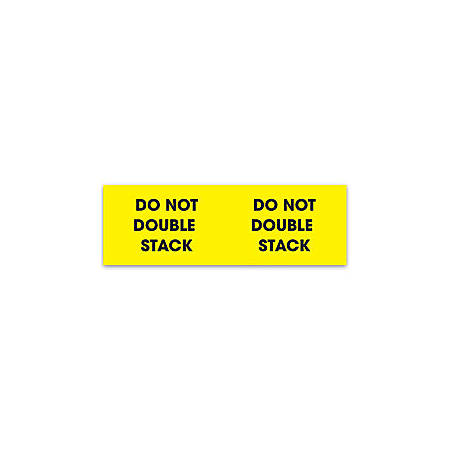 """Tape Logic® Preprinted Pallet Protection Labels, DL3101, 10"""" x 3"""", Corner™Style, """"Do Not Break Down Skid,"""" Bright Yellow, Roll Of 500"""