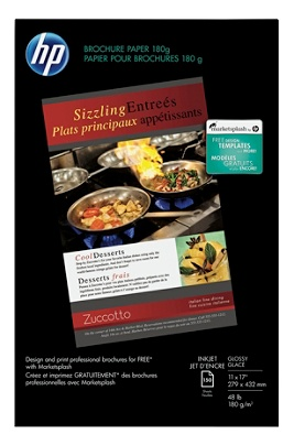 HP Glossy Brochure Inkjet Paper, 11