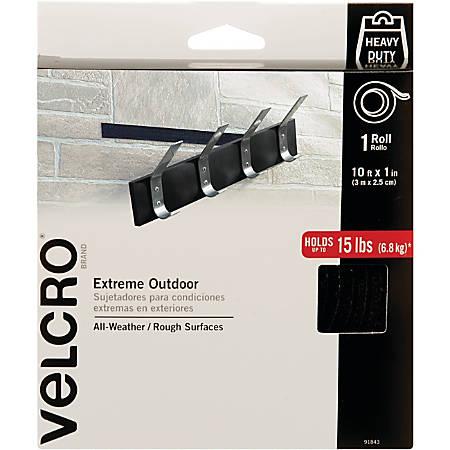"VELCRO® Brand Industrial-strength Fastener Roll - 10"" Width x 1 ft Length - Plastic - Heavy Duty - 1 Roll - Black"
