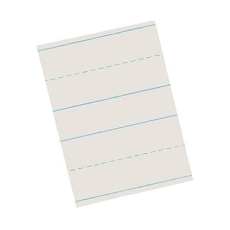"Pacon® Skip-A-Line Ruled Newsprint, Grade 2, 8 1/2"" x 11"", 3/4"" LW, Pack Of 500 Sheets"