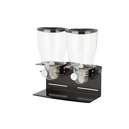 Zevro Commercial Plus Edition Dispenser, Double, 35 Oz, Black/Chrome
