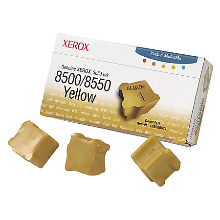 Xerox® 108R00671 Yellow Solid Ink Sticks, Pack Of 3