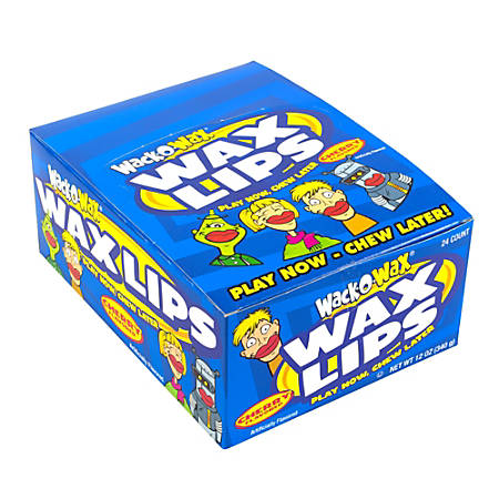 Wack-O-Wax Gummy Candies, Lips, Box Of 24