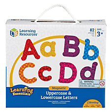 Learning Resources UpperLower Case Magnetic Letters