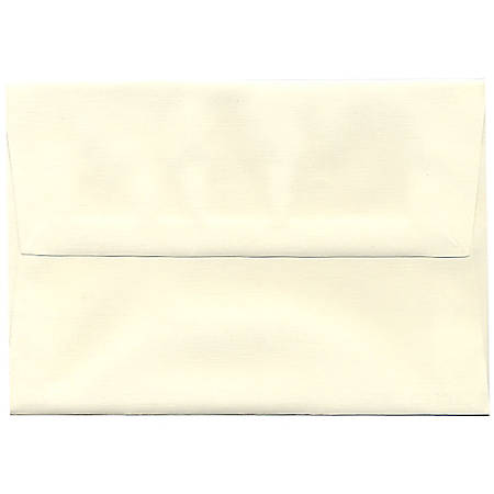 "JAM Paper® Booklet Invitation Envelopes (Recycled), A8, 5 1/2"" x 8 1/8"", 30% Recycled, Natural White, Pack Of 25"