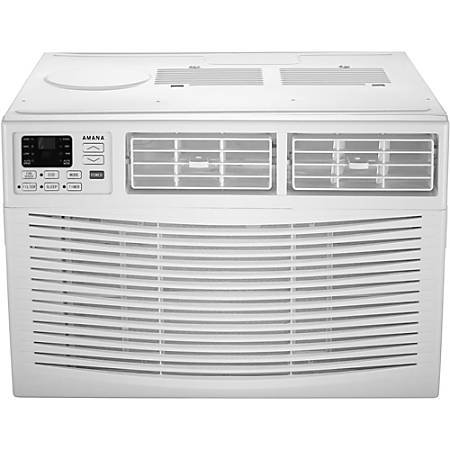 """Amana Energy Star Window-Mounted Air Conditioner With Remote, 18,000 Btu, 17 15/16""""H x 25 7/16""""W x 23 5/8""""D, White"""