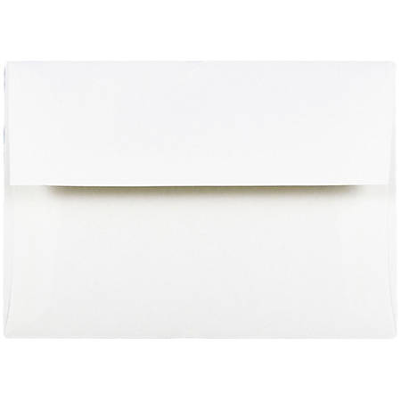 "JAM Paper® Booklet Invitation Envelopes, A2, 4 3/8"" x 5 3/4"", Strathmore Bright White, Pack Of 25"