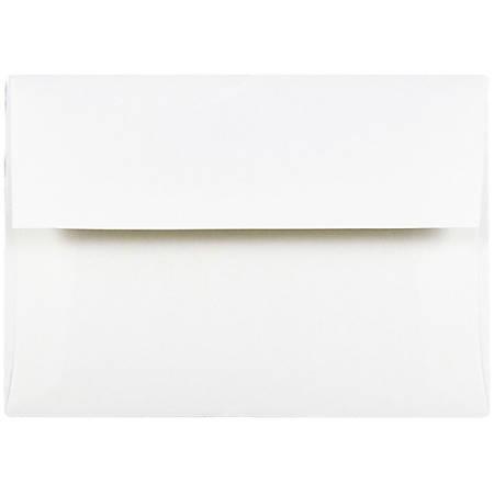 """JAM Paper® Booklet Invitation Envelopes, A7, 5 1/4"""" x 7 1/4"""", Strathmore Bright White, Pack Of 25"""