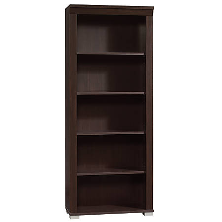 Sauder® Town Collection 5-Shelf Library, Jamocha