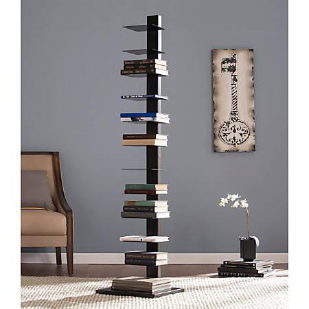 """Southern Enterprises Spine Tower Shelf, 65 1/4""""H x 15 3/4""""W x 16""""D, Black"""