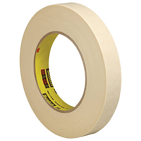 """3M™ 202 Masking Tape, 3"""" Core, 0.75"""" x 180', Natural, Pack Of 48"""