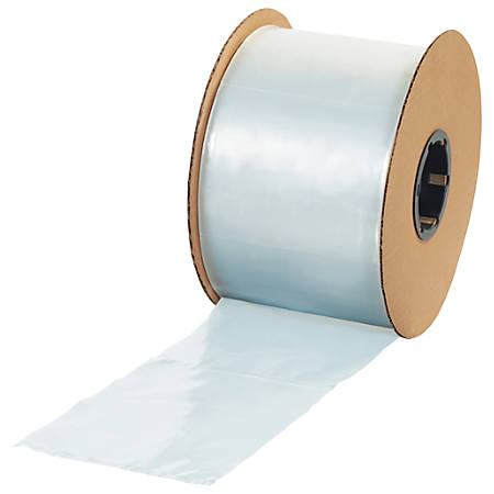 """Office Depot® Brand Flat 2-mil Poly Bags, 4"""" x 12"""", Clear, Roll Of 1,000"""