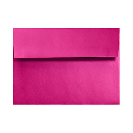 """LUX Invitation Envelopes With Moisture Closure, A9, 5 3/4"""" x 8 3/4"""", Hottie Pink, Pack Of 250"""