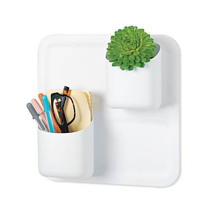 "perch™ by Urbio® Starter Kit, 3 Piece, 10 4/16""H x 10 4/16""W x 4""D, White"