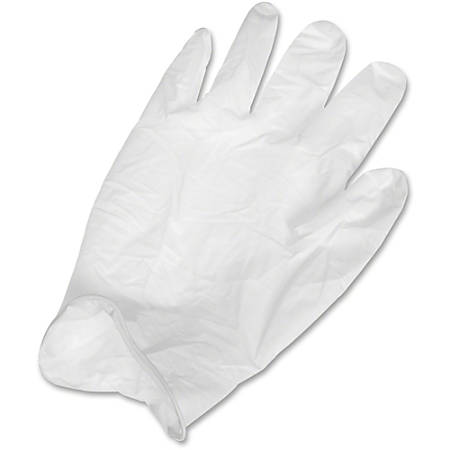 Ansell Health Powder-free Latex Exam Gloves - Large Size - Latex, Natural Rubber - White - Textured, Powder-free, Comfortable, Acid Resistant, Alcohol Resistant, Ambidextrous, Disposable, Rolled Cuff, Beaded Cuff, Flexible, Chemical Resistant
