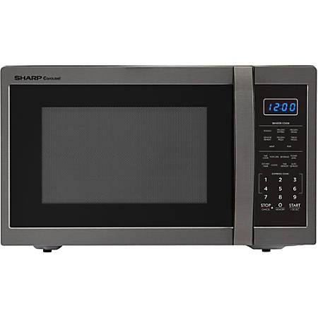 Sharp Carousel 1 4 Cu Ft Countertop Microwave Oven Black