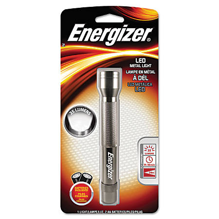 "Energizer® LED Flashlight, 5 2/3"" x 9/10"", Gray"