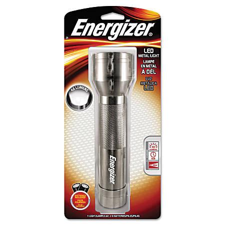 """Energizer® LED Flashlight, 8 1/3"""" x 2 1/5"""", Silver"""