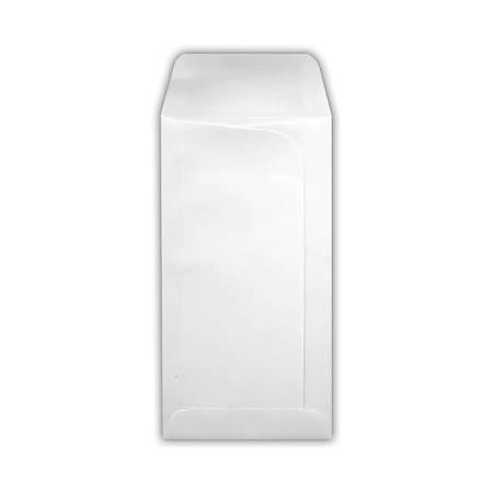"""LUX Large Drive-In Banking Envelopes With Peel & Press Closure, #7, 3 3/4"""" x 7"""", White, Pack Of 1,000"""