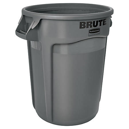 Rubbermaid® Round Brute® Container, 32 Gallons, Gray