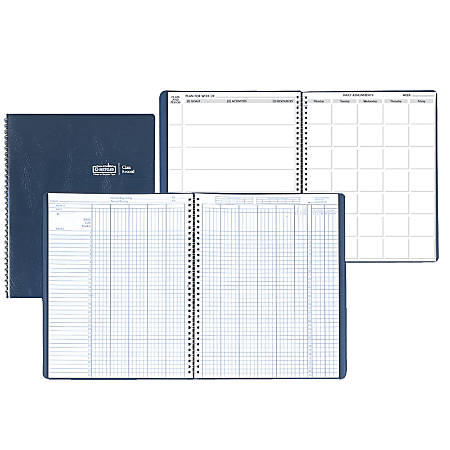 House Of Doolittle Combination Lesson Planner And Class Record Books, 100% Recycled, FSC Certified, Blue, Pack Of 2