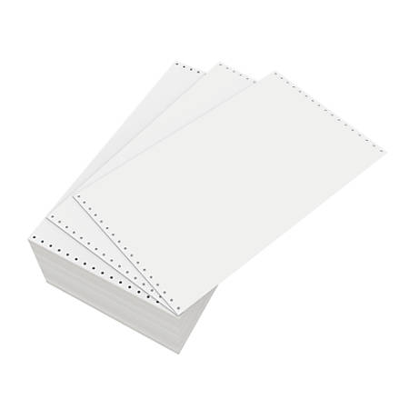 "Domtar Continuous Form Paper, Unperforated, 14 7/8"" x 8 1/2"", 18 Lb, Blank White, Carton Of 3,000 Forms"