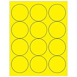 Office Depot Brand Labels LL194YE Circle