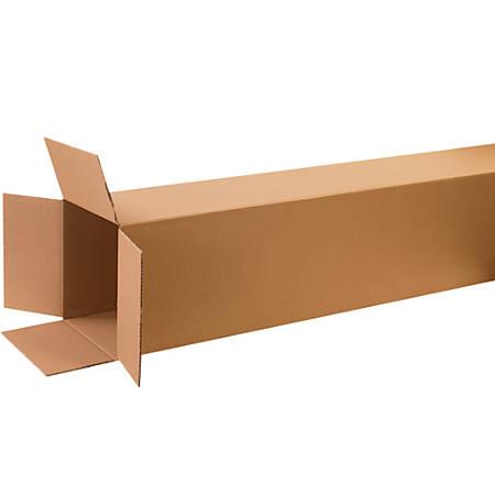 "Office Depot® Brand Tall Corrugated Boxes, 72""H x 10""W x 10""D, Kraft, Bundle Of 15"