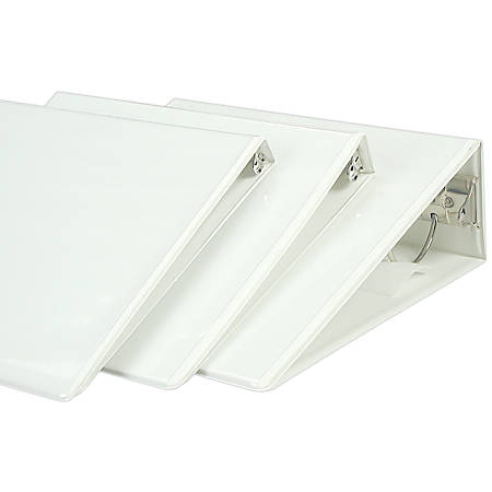 """SKILCRAFT® Clear Overlay Binder, 1/2"""" Rings, 30% Recycled, White (AbilityOne 7510-01-510-4859)"""