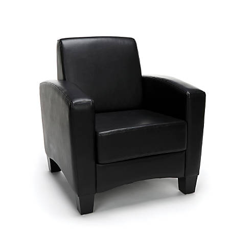 Essentials By OFM Traditional Arm Chair, Black/Black