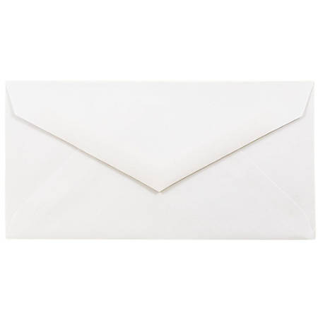 """JAM Paper® Booklet Envelopes, #7 3/4 Monarch, V-Flap, 3 7/8"""" x 7 1/2"""", Strathmore Bright White, Pack Of 25"""