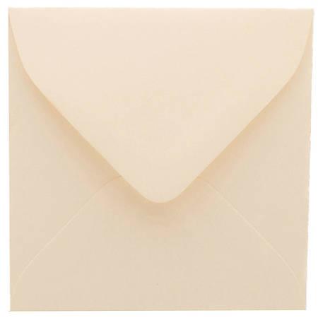 """JAM Paper® Strathmore Invitation Envelopes, 3 1/8"""" x 3 1/8"""", Natural White, Pack Of 25"""