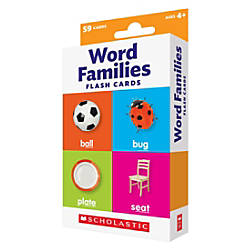 Scholastic Flash Cards Word Families 6