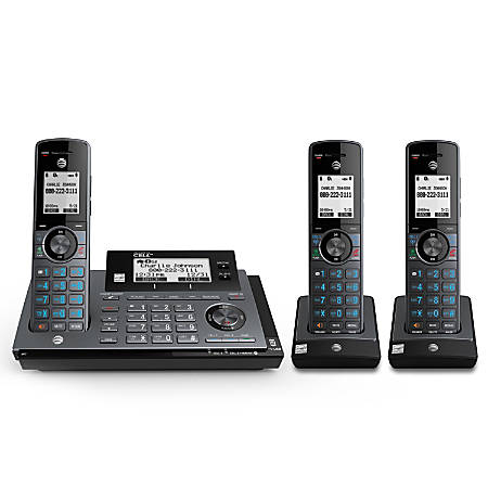AT&T CLP99387 3 Handset DECT 6.0 Expandable Phone System With Digital Answering System & Smart Call Blocker