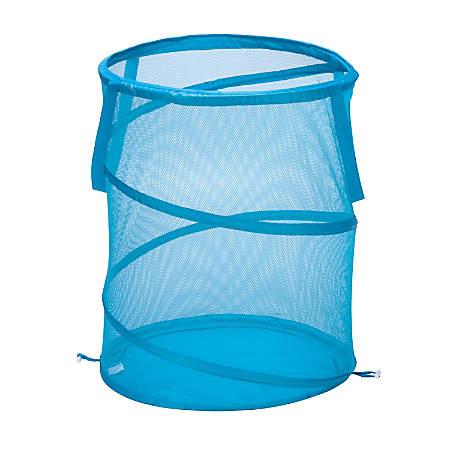 "Honey-Can-Do Breathable Mesh Pop-Up Hamper, 23 5/8"", Blue"