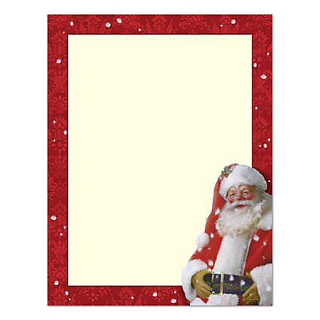 """Great Papers!® Holiday Stationary, 8 1/2"""" x 11"""", Jolly St. Nick, Pack Of 80 Sheets"""