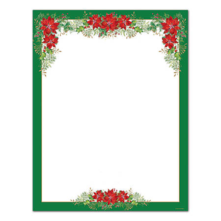 Great Papers! Poinsettia Valance Letterhead, 80 Ct