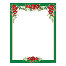 Great Papers Poinsettia Valance Letterhead 80