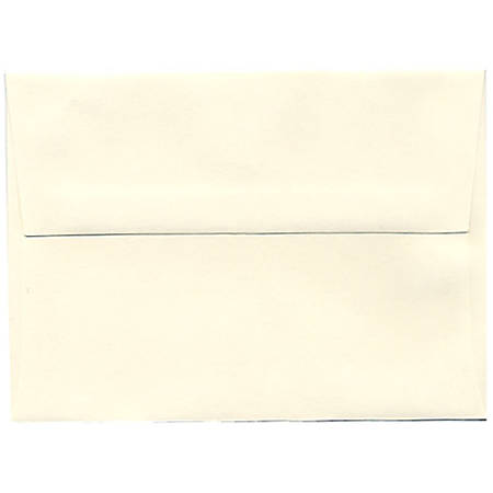 "JAM Paper® Booklet Invitation Envelopes, A6, 4 3/4"" x 6 1/2"", Strathmore, Natural White Wove, Pack Of 25"