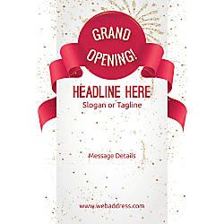 Custom Poster Grand Opening Celebration Vertical