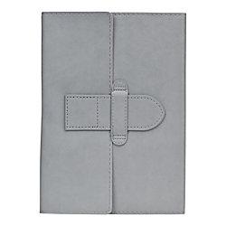 "Eccolo™ Latch Journal, 6"" x 8"", Ruled, Black/Gray"