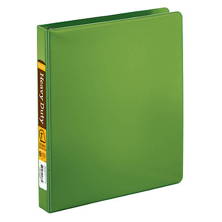 """Office Depot® Brand Heavy-Duty D-Ring Binder, 1"""" Rings, 59% Recycled, Army Green"""