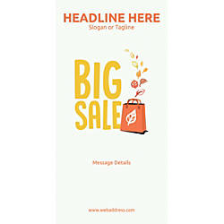 Custom Vertical Display Banner Big Sale